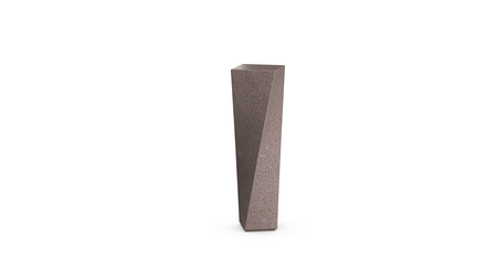 Shear Bollard in Russet-brown