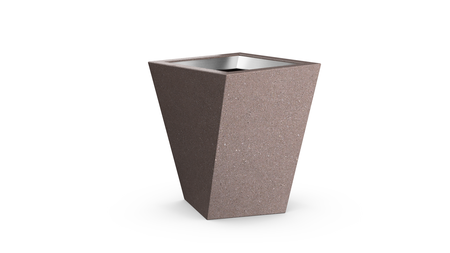 Shear Trash Receptacle in Russet-brown