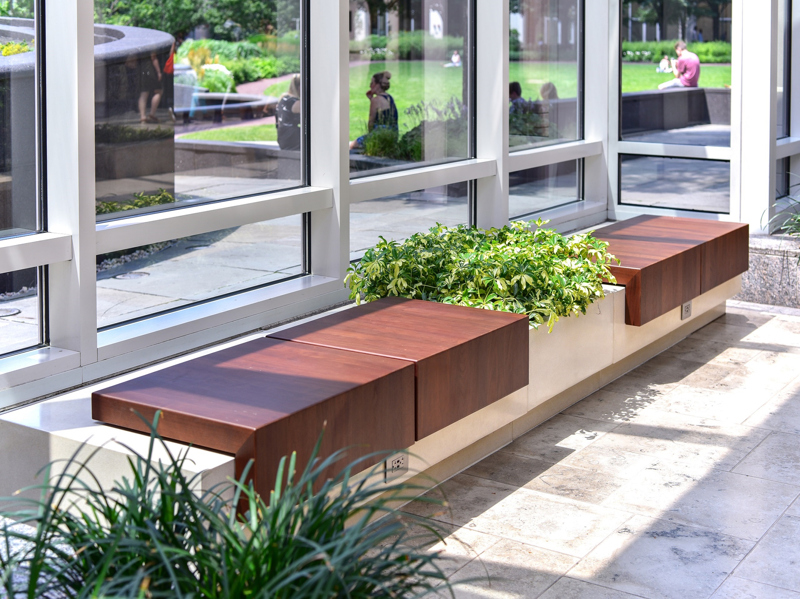 Qcp Contributes Striking New Modular Benches To Boston S